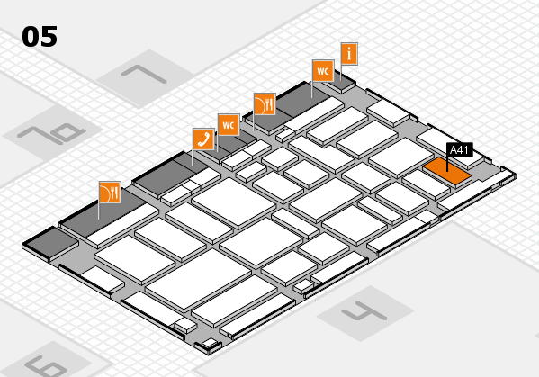 boot 2017 hall map (Hall 5): stand A41