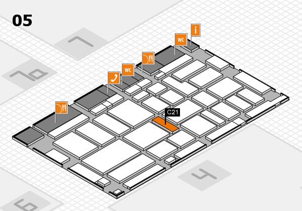 boot 2017 hall map (Hall 5): stand C21