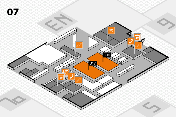 boot 2017 hall map (Hall 7): stand B17, stand D16