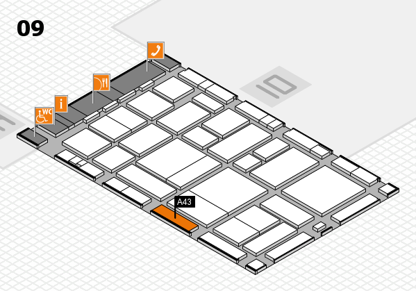 boot 2017 hall map (Hall 9): stand A43