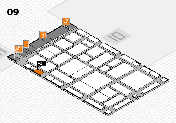 boot 2017 hall map (Hall 9): stand A21