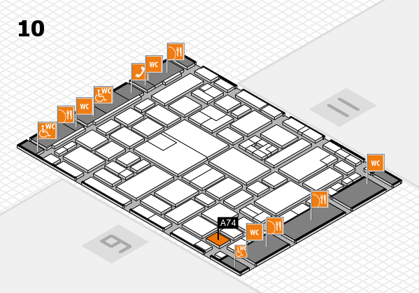 boot 2017 hall map (Hall 10): stand A74