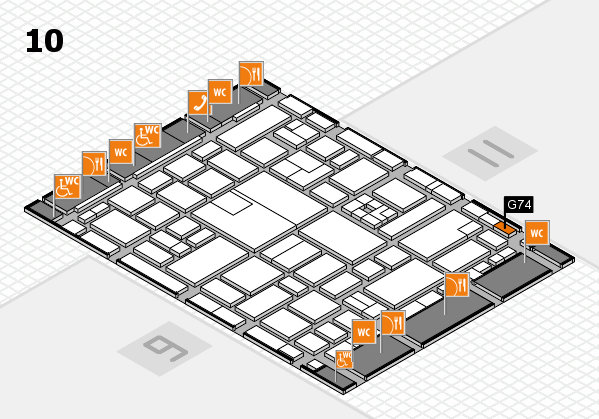 boot 2017 hall map (Hall 10): stand G74