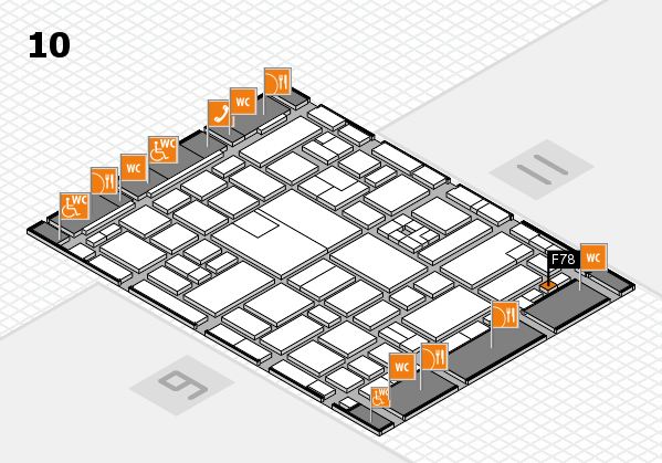 boot 2017 hall map (Hall 10): stand F78