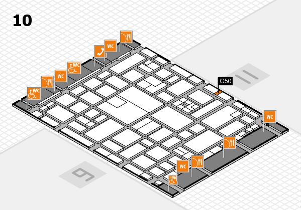boot 2017 hall map (Hall 10): stand G50