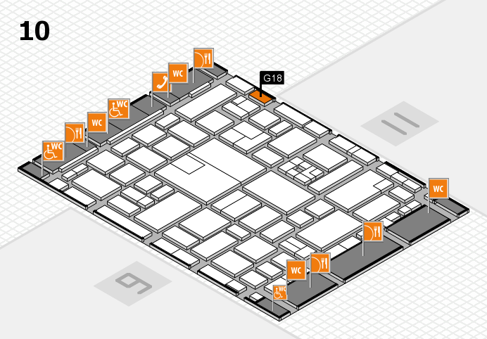 boot 2017 hall map (Hall 10): stand G18