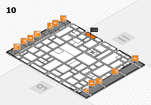boot 2017 hall map (Hall 10): stand G22