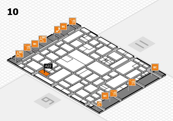 boot 2017 hall map (Hall 10): stand A22