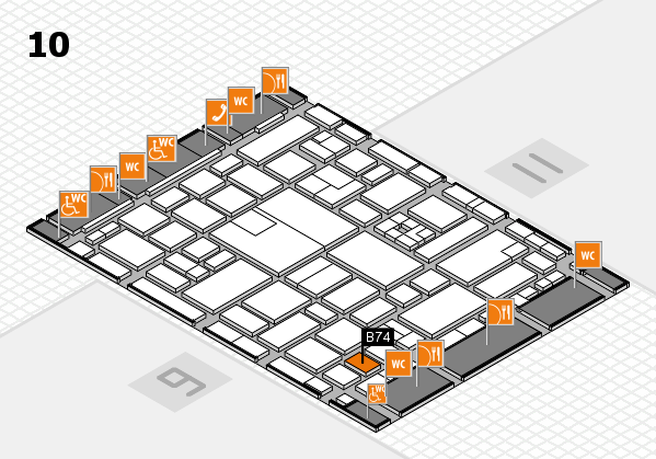 boot 2017 hall map (Hall 10): stand B74