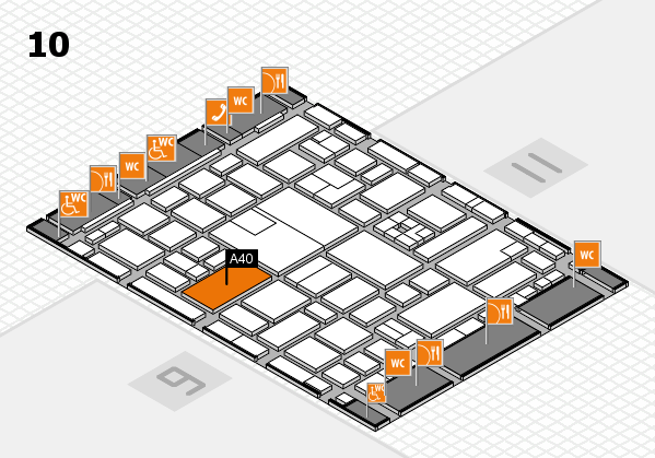 boot 2017 hall map (Hall 10): stand A40