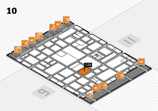 boot 2017 hall map (Hall 10): stand C58