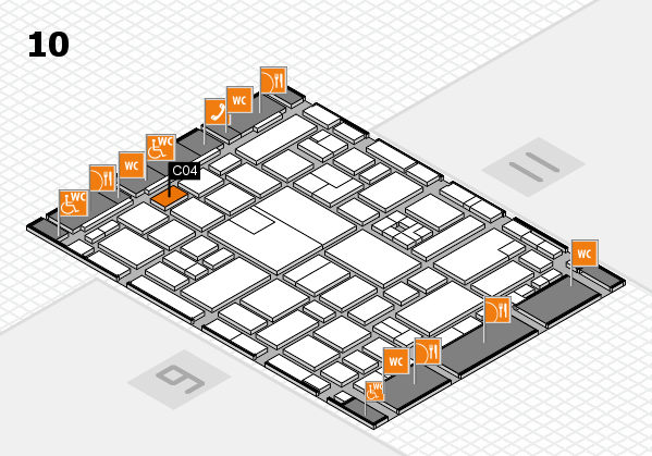 boot 2017 hall map (Hall 10): stand C04