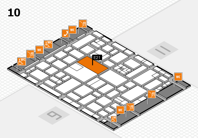 boot 2017 hall map (Hall 10): stand E21