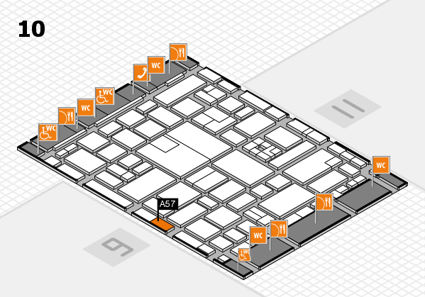boot 2017 hall map (Hall 10): stand A57
