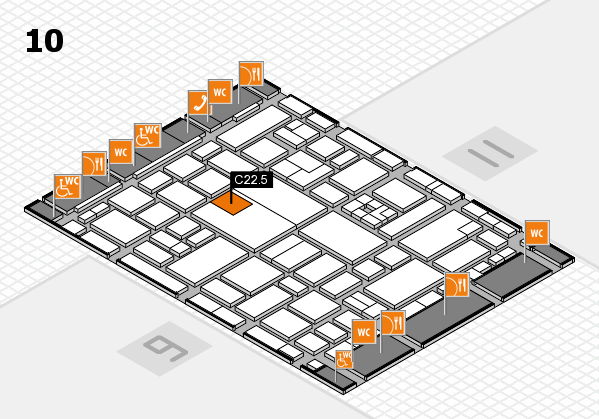 boot 2017 hall map (Hall 10): stand C22.5