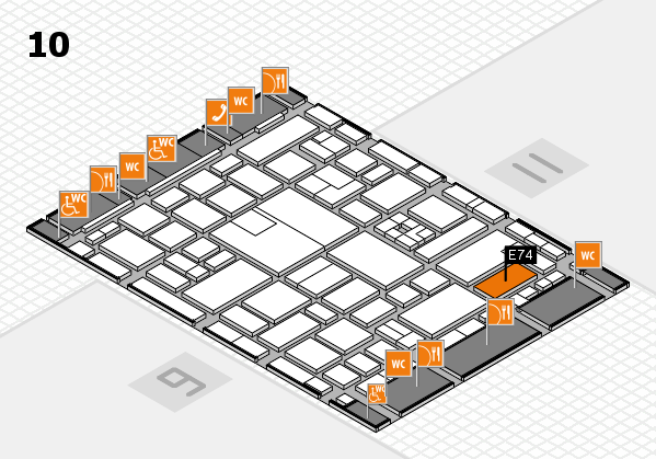 boot 2017 hall map (Hall 10): stand E74