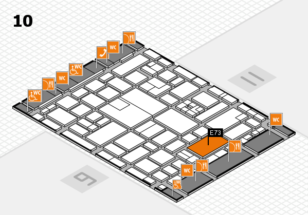 boot 2017 hall map (Hall 10): stand E73