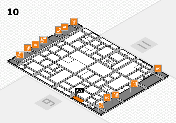 boot 2017 hall map (Hall 10): stand A59