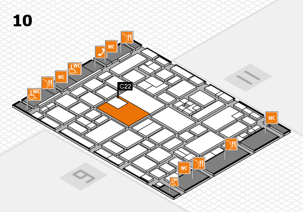 boot 2017 hall map (Hall 10): stand C22
