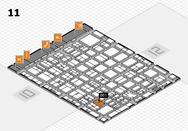 boot 2017 hall map (Hall 11): stand B61