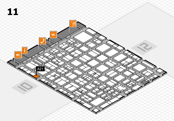 boot 2017 hall map (Hall 11): stand A21