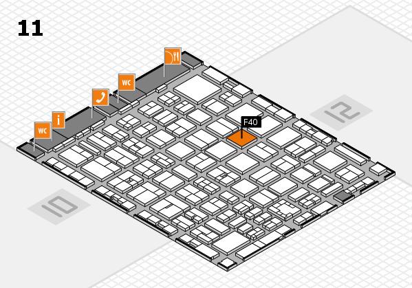 boot 2017 hall map (Hall 11): stand F40