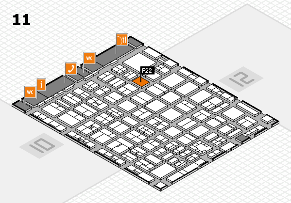 boot 2017 hall map (Hall 11): stand F22