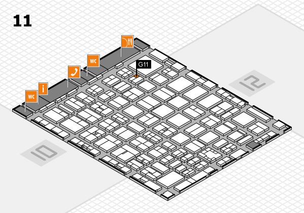 boot 2017 hall map (Hall 11): stand G11