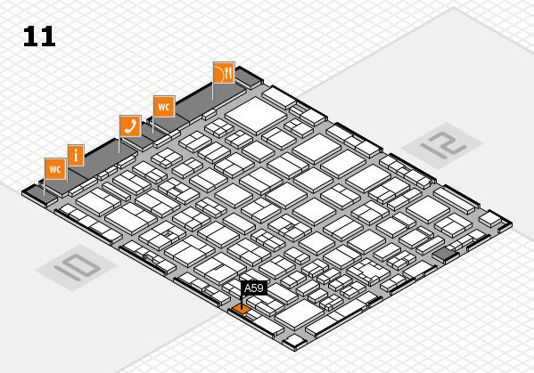 boot 2017 hall map (Hall 11): stand A59
