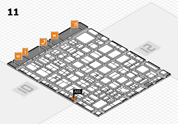 boot 2017 hall map (Hall 11): stand A55