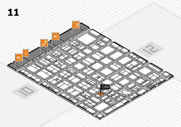 boot 2017 hall map (Hall 11): stand C59