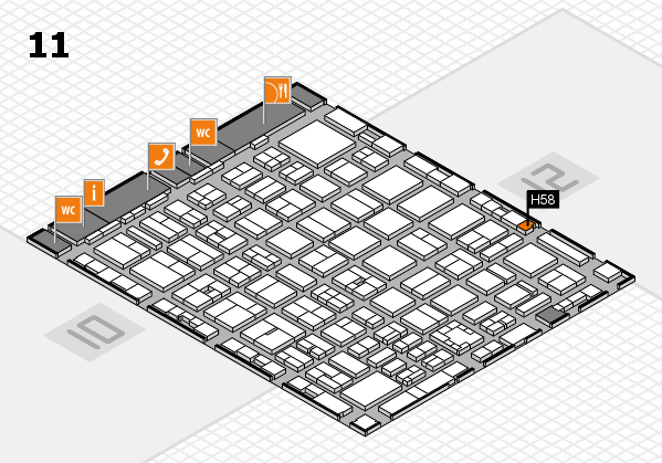 boot 2017 hall map (Hall 11): stand H58