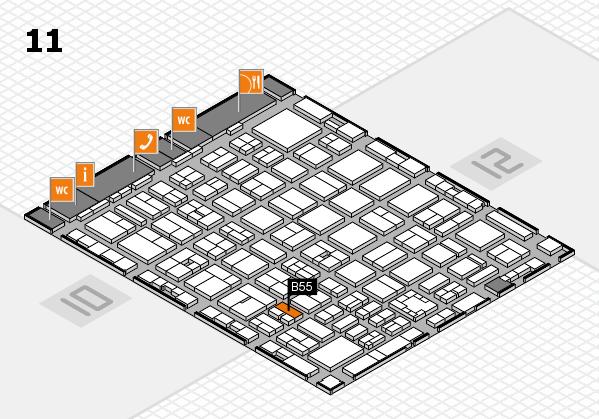 boot 2017 hall map (Hall 11): stand B55