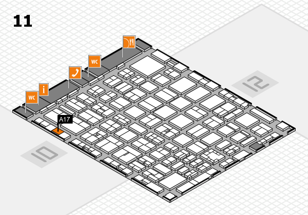 boot 2017 hall map (Hall 11): stand A17