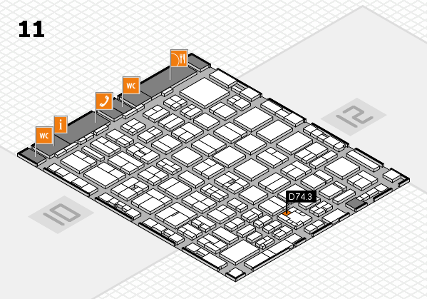 boot 2017 hall map (Hall 11): stand D74.3