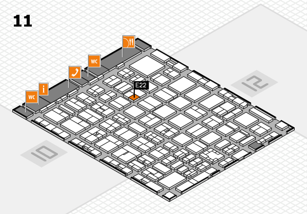boot 2017 hall map (Hall 11): stand E22