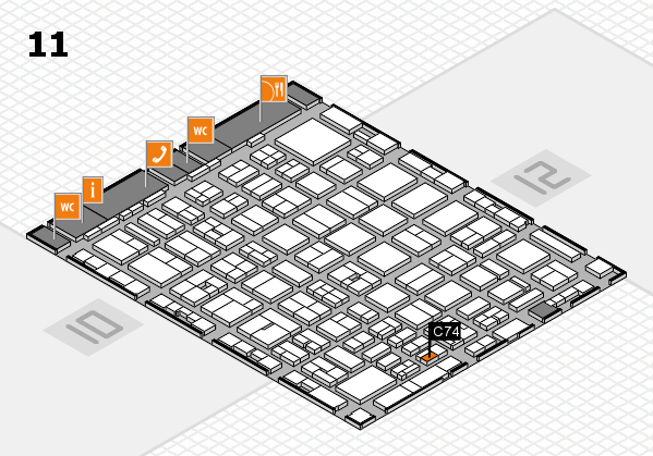 boot 2017 hall map (Hall 11): stand C74