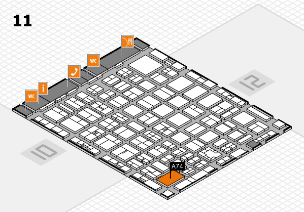 boot 2017 hall map (Hall 11): stand A74