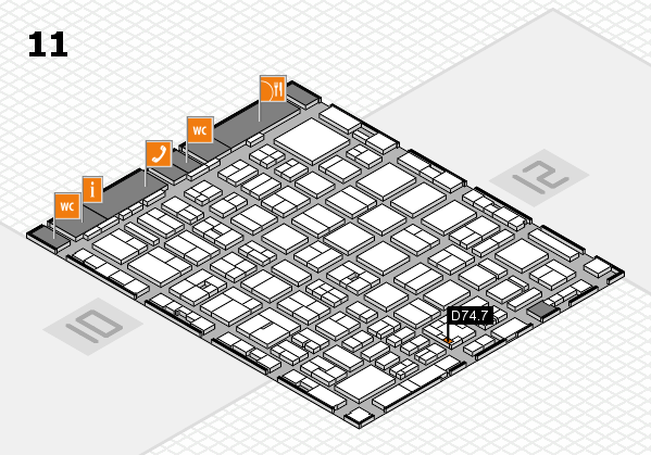 boot 2017 hall map (Hall 11): stand D74.7