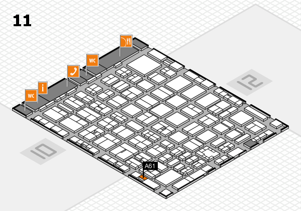 boot 2017 hall map (Hall 11): stand A61