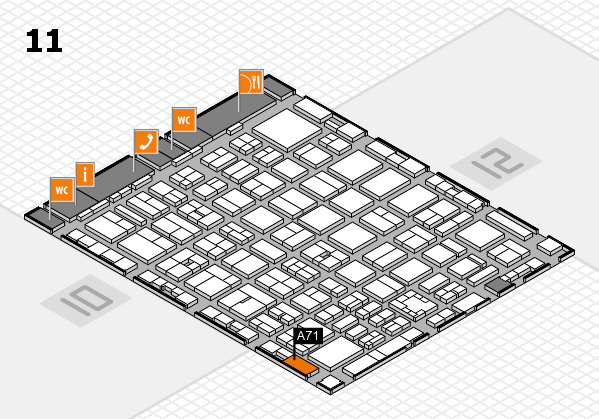 boot 2017 hall map (Hall 11): stand A71