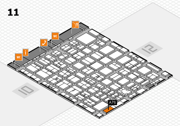 boot 2017 hall map (Hall 11): stand A76