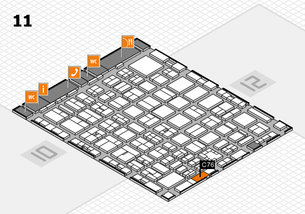 boot 2017 hall map (Hall 11): stand C76