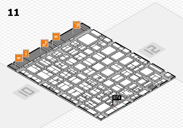 boot 2017 hall map (Hall 11): stand B74