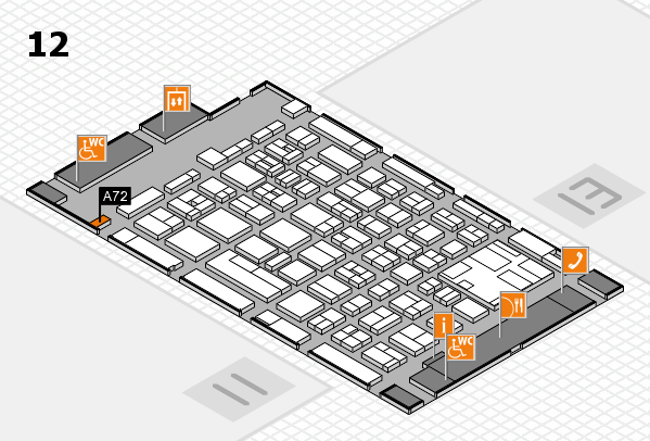 boot 2017 hall map (Hall 12): stand A72