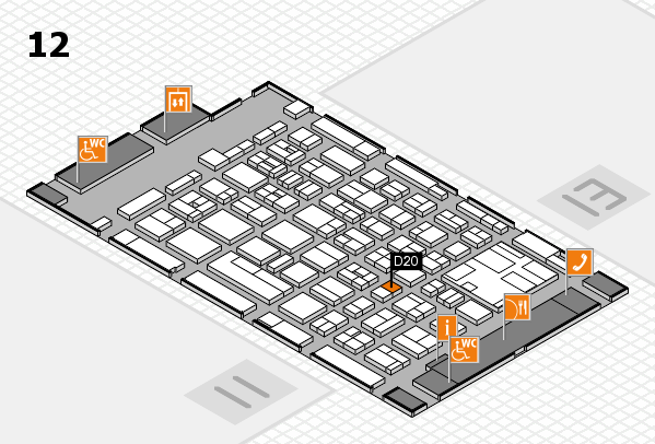 boot 2017 hall map (Hall 12): stand D20