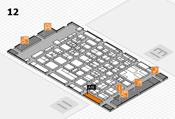 boot 2017 hall map (Hall 12): stand A18
