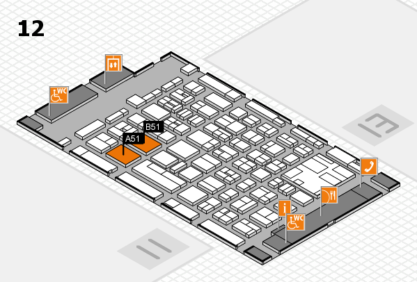 boot 2017 hall map (Hall 12): stand A51, stand B51