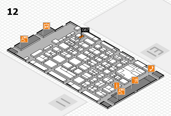boot 2017 hall map (Hall 12): stand G67