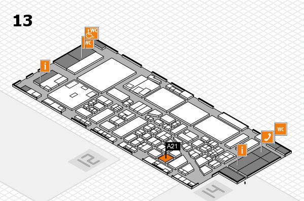 boot 2017 hall map (Hall 13): stand A21